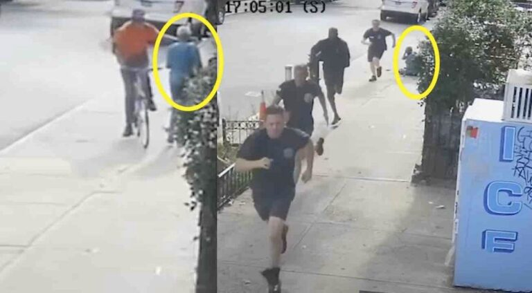 VIDEO: NYC firefighters chase down thug who sucker-punched 60-year-old woman in front of their station